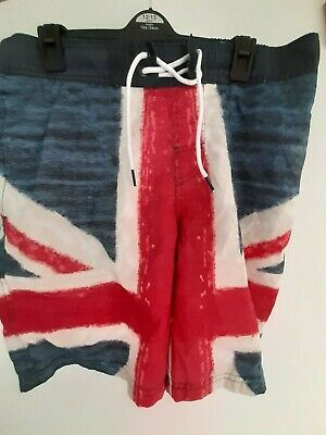 Cedarwood State Size Medium Union Jack Lined Shorts With Pockets And Drawstring • 8.99£
