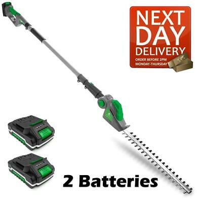 £89.95 • Buy Cordless Hedge Trimmer Long Reach Pole Cutter Telescopic 2 Batteries Included