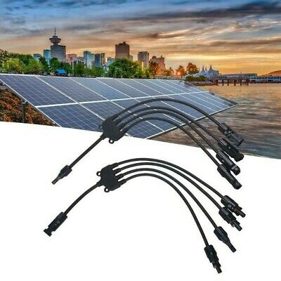 AU18.23 • Buy 1 Pair  Y-type Male Branch Solar Panel Cable Connectors 4 To 1 Wire Connector