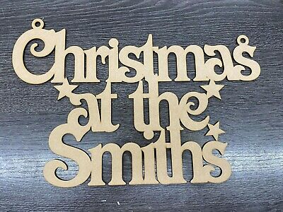 MDF Christmas At The ........personalized Christmas Sign With Stars • 4.50£