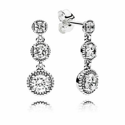 NEW Pandora Eternal Elegance Drop Earrings 290742CZ S925 ALE Genuine • 24.09£