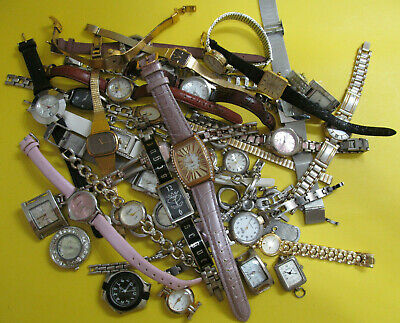 $ CDN25 • Buy Lot Of 35 Watches For Parts Repair Or Crafts Repurposing Recycling Mixed Media