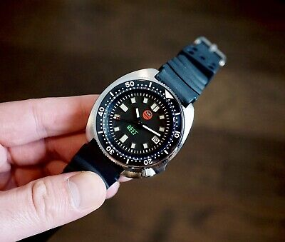 $ CDN190.74 • Buy Oceanica Reef Dive Watch V3 Rubber Band - Seiko 6105 Homage + 2 Free Bands!
