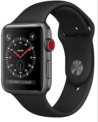 $ CDN536.21 • Buy NEW Apple Watch Series 3 42mm Space Gray Aluminum Sport Band Black GPS Cellular