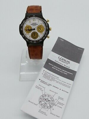 $ CDN250 • Buy Vintage V654-8020 Chronograph Lorus By Seiko Mens Watch 90s  Manual Instruction