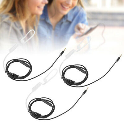 3sets Noise Reduction Headphone Anti‑Radiation Wire Control Earphone With Mic • 7.99£
