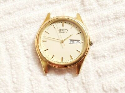 $ CDN26.82 • Buy Vintage Seiko Day Date Analog Watch Gold Tone Stainless Steel Japan Movement