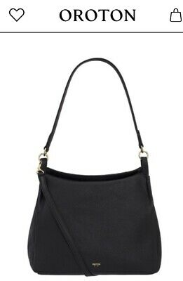 AU129 • Buy Oroton Byron Black Leather Crossbody Handbag Gorgeous Rrp $429