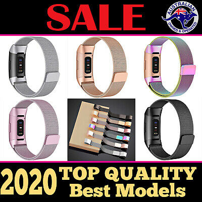 AU13.90 • Buy For Fitbit Charge 3 4 Watch Band Replacement Band Strap Metal Stainless Steel AU