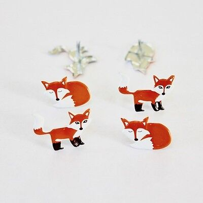 $2.25 • Buy Fox Brads Mix ** Eyelet Outlet ** 8 Pcs  Animal ** New 2 Styles **