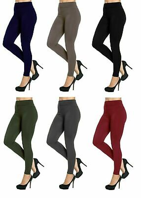 £4.75 • Buy Ladies Thick Winter Thermal Leggings Fleece Lined Warm High Waist Size 06 - 20