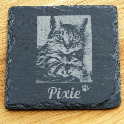 £9.80 • Buy Personalised Pet Memorial Plaque For Pet Cat Dog Grave Stone Slate Marker Gift