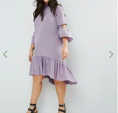 AU30 • Buy ASOS CURVE Tea Midi Dress With Ruffle - New With Tags - Size 20 - Plus Size