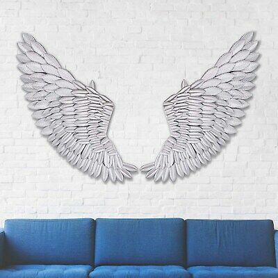 40'' Large Rustic Angel Wing Wall Mount Hanging Art Home Living Decor UK  • 38.49£