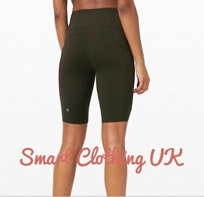 "$ CDN86.16 • Buy Lululemon Women's Fast And Free HR Shorts 10""  (Dark Olive)     RRP £68"
