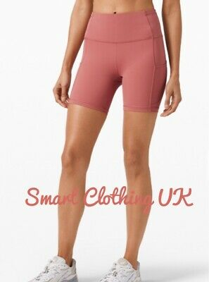 "$ CDN86.16 • Buy Lululemon Women's Fast And Free HR Shorts 6""  (Cherry Tint)     RRP £68"