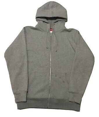 $ CDN240.59 • Buy Supreme Zip Up Hoodie Gray Large Small Hem Logo Vintage