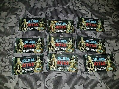 9 X Packs Topps WWE Wrestling Slam Attax Evolution Cards NEW & SEALED! • 7.49£
