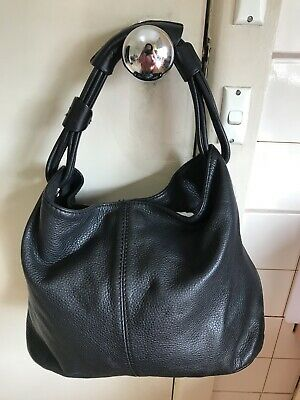 AU80 • Buy Oroton Large Black Leather Alpine Bag.