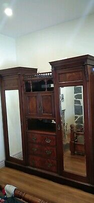 AU900 • Buy Stunning Antique  Mahogany Wardrobe