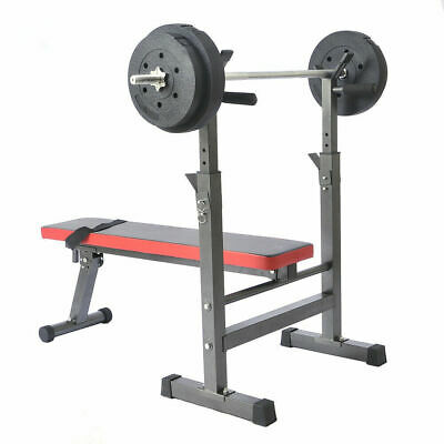 Weight Lifting Bench - FOLDS FLAT - Exercise Home Fitness Machine Bodybuilding  • 79.99£