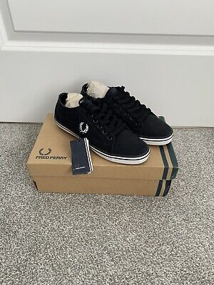 Fred Perry  Kingston  Navy Canvas Shoes-uk 4-new Boxed • 25£