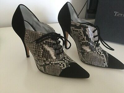 Black/snake Skin Terry De Havilland Shoes Size 3 (36), Worn Once With Box. • 65£