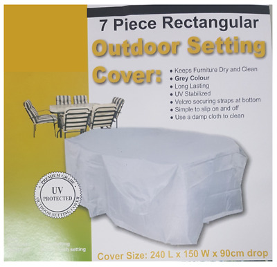 AU15.95 • Buy OFC902 155gsm Waterproof 240x150cm; Outdoor Furniture Setting Cover; Light Grey