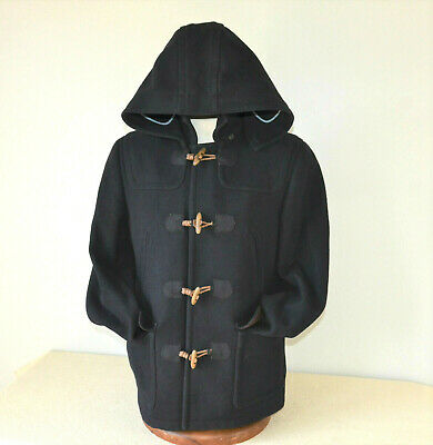 $169 • Buy Ted Baker Navy Blue Wool Duffle Coat $675 Wooden Toggle Buttons Ted Size 3 Men M