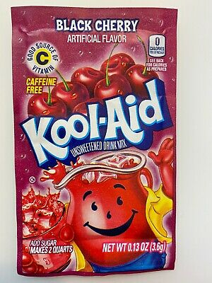 24 Kool-Aid Black Cherry Unsweetened Drink Mix Expires 2021 • 6.49£