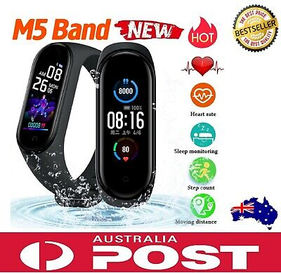 AU36.90 • Buy Fitbit Style M5 Smart Watch Heart Rate Fitness Tracker Motion Apple Samsung AUS