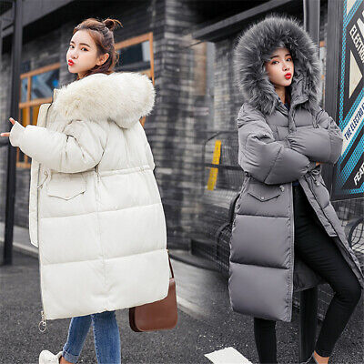 Winter Womens Down Cotton Parka Hooded Coat Ladies Quilted Puffer Jacket Outwear • 27.88£