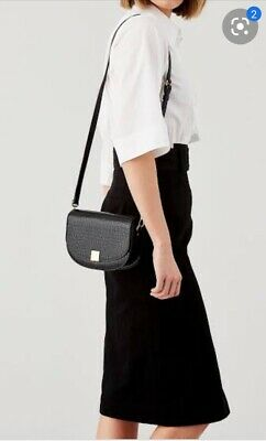AU149 • Buy Oroton Voyage Mini Saddle Crossbody Bag Mock Croc Black 100% Leather RRP $379AUD