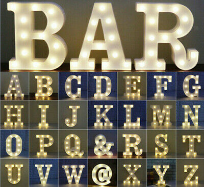 £6.99 • Buy Large LED Light Up Alphabet Letters Plastic Numbers Standing Party Birthday