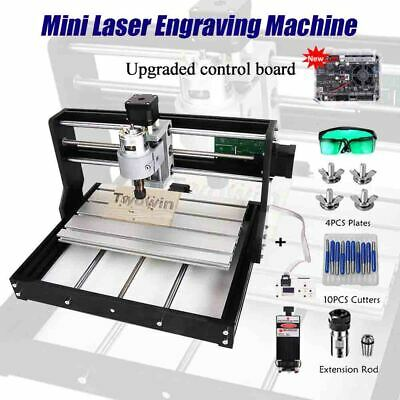Mini Laser Engraving Machine 3Axis PCB Milling GRBL Control ER11 Diy Wood Router • 216.81£
