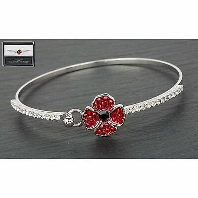 Equilibrium Delicate Poppy Bangle Bracelet Jewellery Rememberance Day • 12.19£