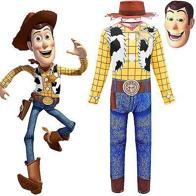 Boys Toys Story Woody Cowboy Dress Up Plaid Blouse +Trouser Cosplay Outfit Sets • 16.39£