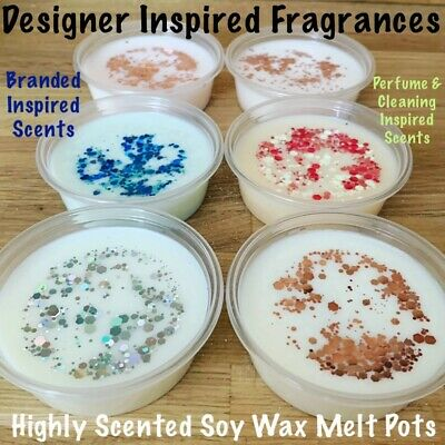 ❤️ Handmade Highly Scented Soy Wax Melts Scoop Pots - Lenor Zoflora Perfumes ❤️ • 2.95£