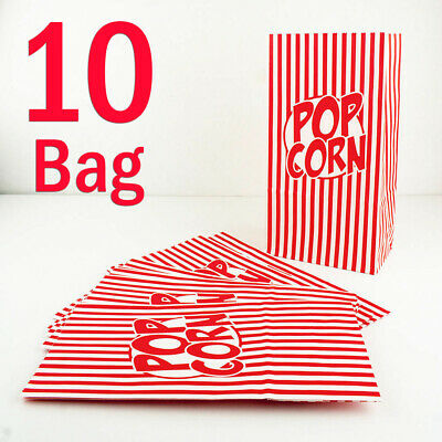 10 Popcorn Bags Large Paper Box Tub Cinema Movie Night Party Novelty Snack Treat • 2.80£
