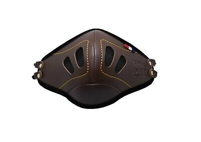 PU Leather Face Mask With Filter Pockets Handmade Designer Fashion - Brown • 4.95£