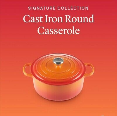LE CREUSET Signature Collection Cast Iron Casserole Dish With Lid, 26cm, 5.3L • 219£