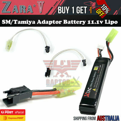 AU31.31 • Buy 11.1v Lipo Battery Tamiya SM Adaptor Extension Line LDT HK416 Gel Blaster Toy AU