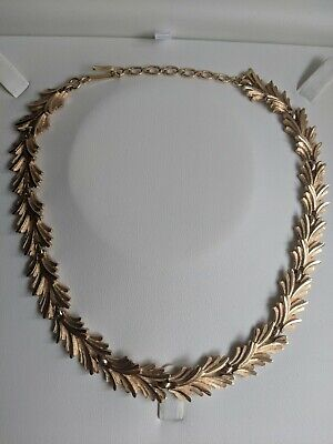 Vintage Trifari Gold Tone Articulated Collar Style Necklace • 27£