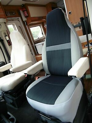 To Fit A Fiat Ducato 2020 Motorhome, Tall Pilot Seat Covers, India MH-1009 • 129.99£