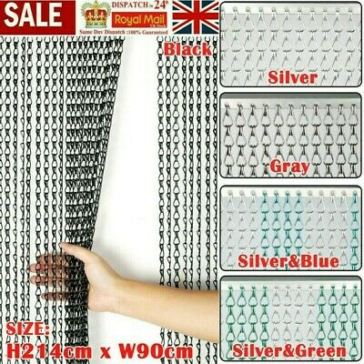 Aluminium Chain Metal Door Curtain Strip Fly Pest Insect Blinds Screen Protector • 25.99£