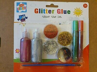 Glitter Glue Set Sparkly Colours Kids Children Fun Art Craft Painting Activity   • 2.99£