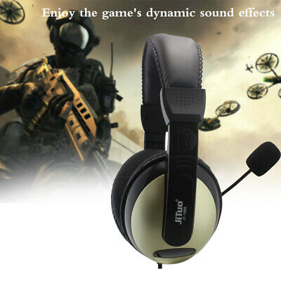 Stereo 3.5mm Headphone Headset With Microphone MIC For Skype Computer PC Laptop • 8.65£