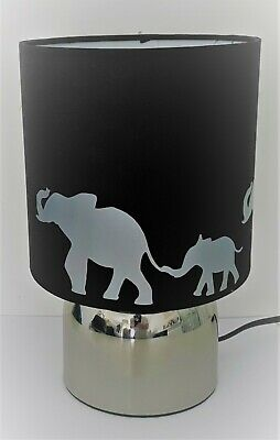 £21.99 • Buy Elephant Silhouette Black Touch Lamp -3 Settings