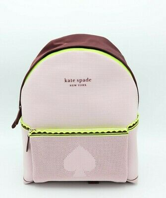$ CDN185.79 • Buy NWT Kate Spade New York Pink Sport Knit City Pack Large Backpack Bag New