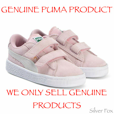 AU29.95 • Buy Puma Kids Suede 2 Straps Pink White Girls Shoes Sneakers Runners Brand New